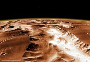 NASA WorldWind 火星マリネリス峡谷上空より 1598x1118