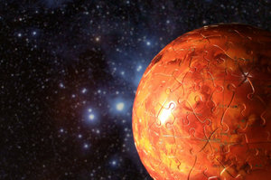 Complete! 6inch Mars Globe Jigsaw Puzzle