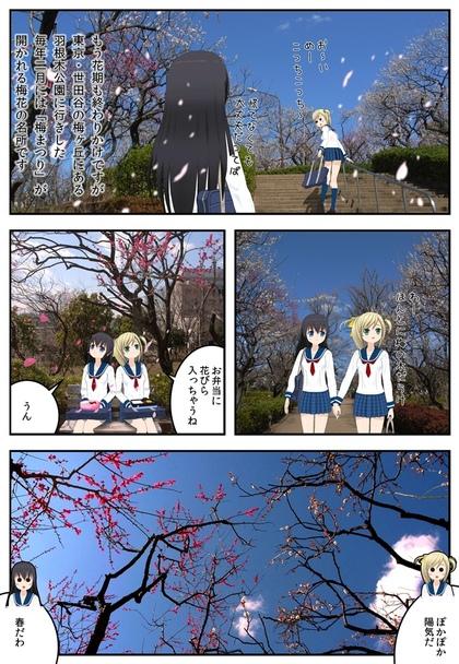 東京世田谷の梅ヶ丘にある羽根木公園の梅の写真