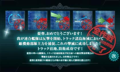 艦これ 冬季イベント「迎撃!トラック泊地強襲」クリア